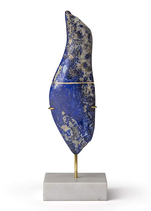 Little Lapis Goddess II, 2016 pendant in gold and lapis