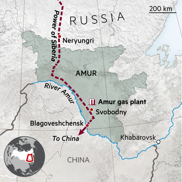Where Is Siberia On A World Map.Russia S 55bn Pipeline Gamble On China S Demand For Gas