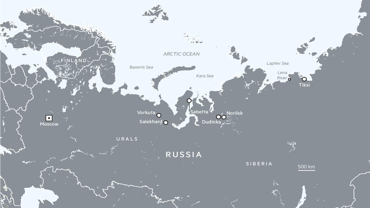 Arctic Circle Russia Map.Russia S Arctic Obsession Financial Times
