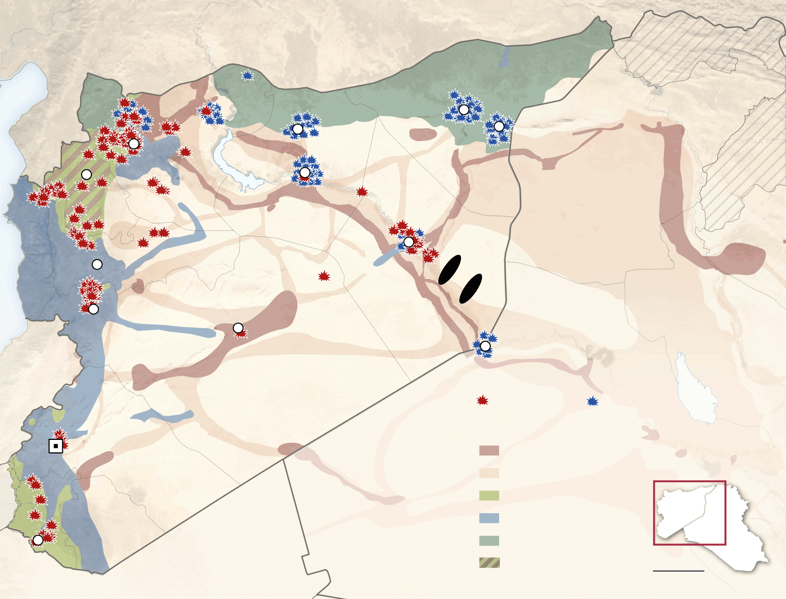 syria oil map the journey of a barrel of isis oil